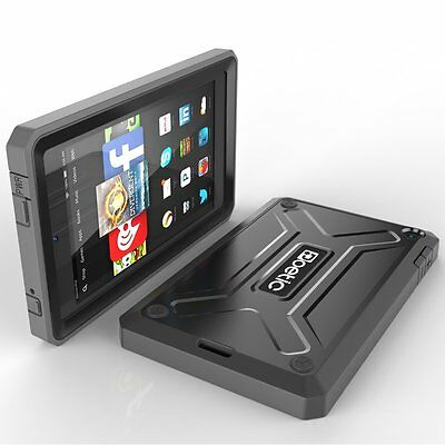 For Amazon Kindle Fire HD 6 Shockproof Cover Heavy Duty [Dual Layer] Case Black