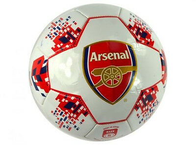 Arsenal Football Club Official Size 5 Soccer Ball Supporters Gift Leather Footy