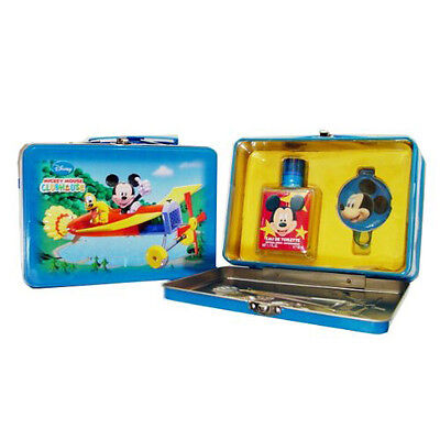 |[ PROMO ]| MICKEY MOUSE - Coffret métal eau de toilette 50ml + luggage tag