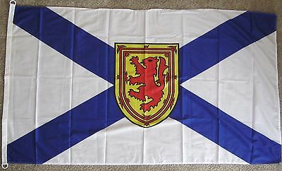 New 3' by 5' Knitted Polyester Nova Scotia Flag. Free Shipping in Canada!