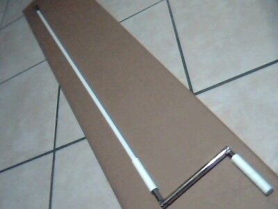 Roll Shutter Crank Handle Pole with Bell and Bullet, 5 feet, Priority Ship