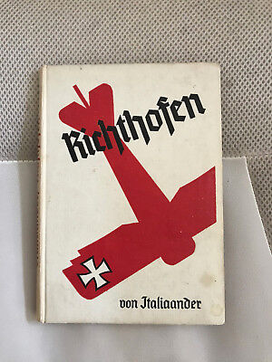 Wwi German Book Richthofen Aviator Air Fighter Red Baron Photo Sanke