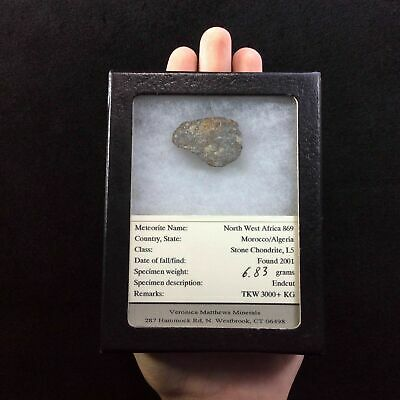 Meteorite Fragment Specimen 170725 In Collectors Box Gift of Universal Energy