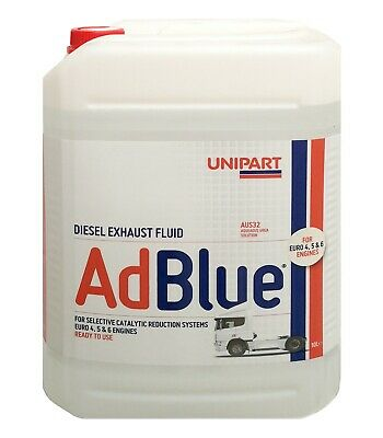 Unipart ADBLUE Diesel Exhaust Fluid 10 Litre Including Pouring Spout