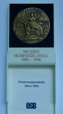Greece, Athens 1896 Olympic Games - Commemorative Medal 1996, 100 years Olympics