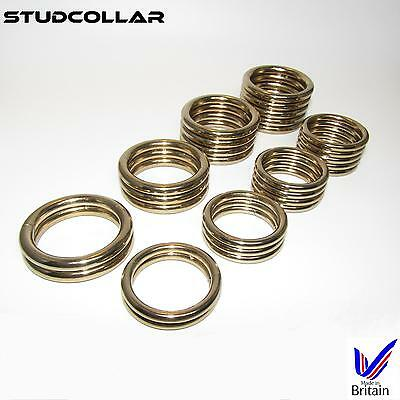 STUDCOLLAR-SUPERMAX-GOLD - 8 Ring Choices - 32mm and 38mm ID - 1 COLLAR / ORDER