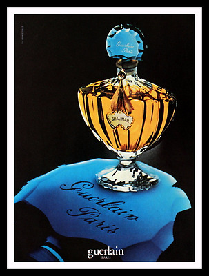 1983 Shalimar by Guerlain Perfume Ad - Parfum - Paris - 80s Vintage Advertising