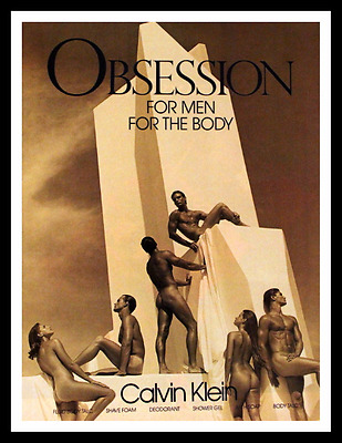 1987 Obsession for Men Cologne Ad by Calvin Klein - Vintage 1980s Advertising
