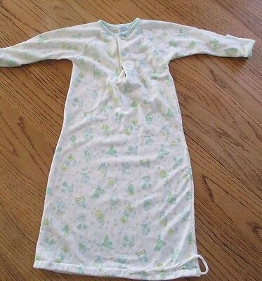 Vintage Carters Baby Boy Girl Layette Newborn Gown Drawstring Sleep Sack EUC