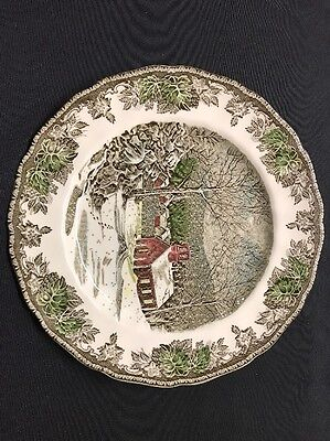"""Johnson Bros The Friendly Village Pattern The School House England Plate 9 3/4"""""""