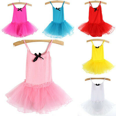 Cute Toddler Baby Girls Ballet Tutu Sling Dress Dancing Costume Leotard Healthy