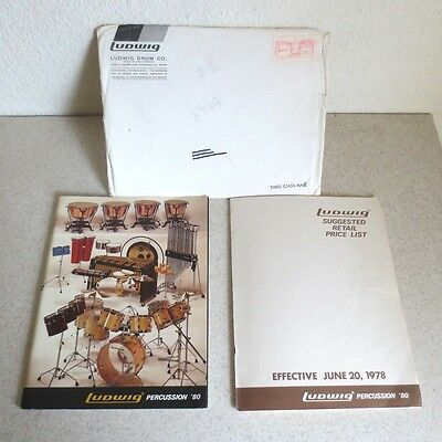 Ludwig Drums Catalog 99 Pages (1980) Plus Price List And Original Envelope!