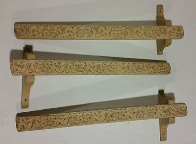 Antique Victorian Architectural Wood Window Toppers Set Of 3