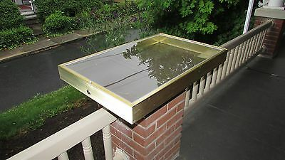 Portable  Dealer Aluminum Glass Display Gold Showcase All State Mfg. 22X34X3 1/8