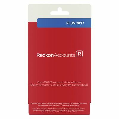 Reckon Accounts Plus 2017 1 PC Card