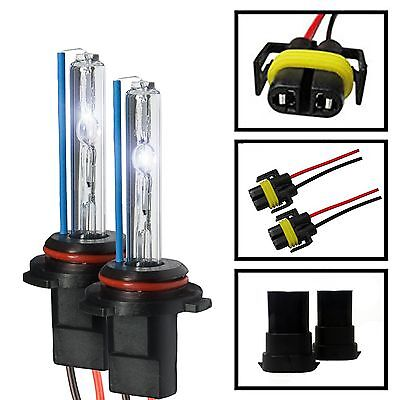 Two Xentec Xenon Light HID Kit 's Replacement Bulbs with Wires & Plugs H4 H7 H11