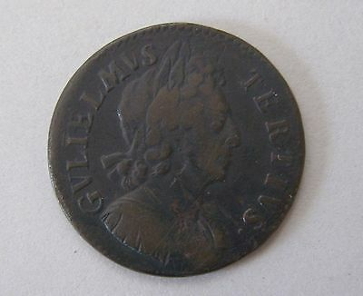 1699 Britain William III Half Penny