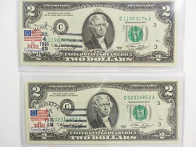 2-July 4 1976  Stamped Uncirculated $2 Bill