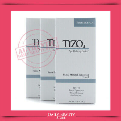 Tizo3 Age Defying Fusion Facial Mineral Sunscreen SPF 40 1.75oz Tinted X 3 PACK