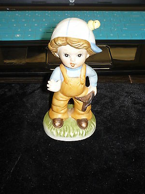 HOMCO #1424 Boy Figurine with Bird and Slingshot Home Interiors