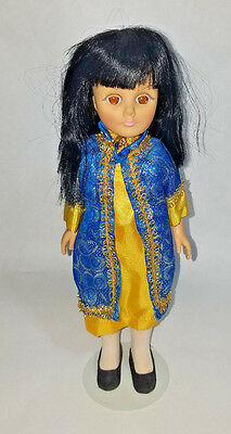 """Vintage 1970's Oriental Effanbee 14"""" doll w/org outfit"""