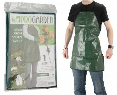 Garden Plastic Apron 72x55cm in green colour water-repellent