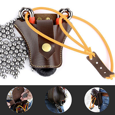 Fashion Mens Outdoor Sports Contanier Leather Case Small Waist Bag Pouch