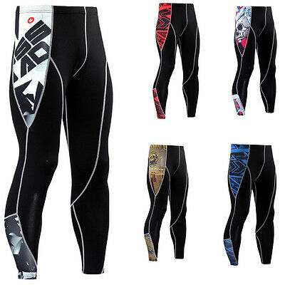 Mens Fitness GYM Leggings Compression Running Yoga Base Layer Sports Pants