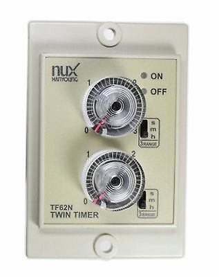 Hanyoung Nux TF62NP AC/DC 24-240V Panel type  Analog Twin timer 58X84 +PG-08