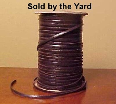 DARK BROWN Kangaroo Leather Lacing in 3/32 Inch Width - SOLD BY YARD