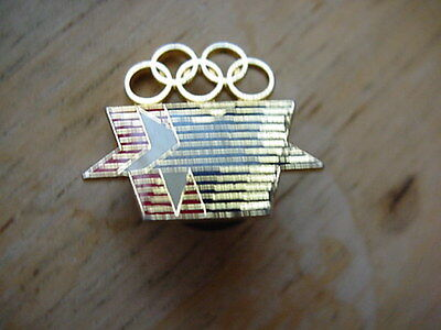 1980 Olympic Pin Stars And Rings