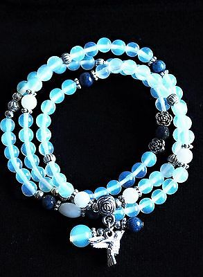 Opalite Crystal Natural Gemstone Bracelet or Necklace Hummingbird Ideal Gift