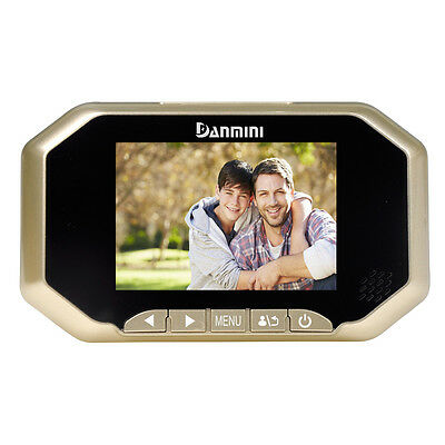"3"" TFT LCD Screen Digital Peephole Viewer Door Doorbell IR Night Version Golden"