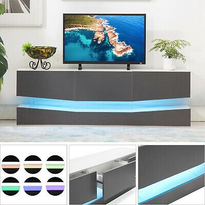 Floating Entertainment Center Led Tv Stand Wall Mount