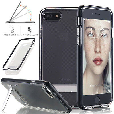 For Apple iPhone 7 / 7 Plus Slim Clear TPU Case Magnetic Stand Shockproof Cover