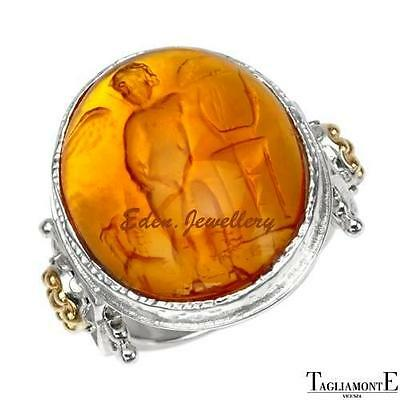 US$499 TAGLIAMONTE Made in ITALY Venetian Glass 14K/925 Gold Plate Silver RARE