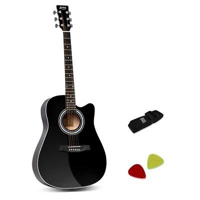 "41"" Steel-Stringed Acoustic Guitar Black"