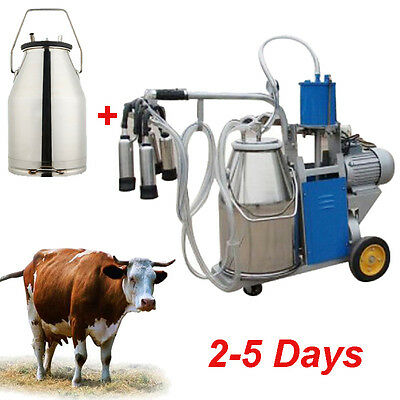 Portable Milker Electric Milking Machine Dairy Farm Cow Milking Machine 110V