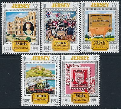 1991 Jersey Anniversaries Set Of 5 Fine Mint Mnh/muh