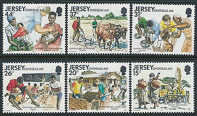 1991 Jersey Overseas Aid Set Of 6 Fine Mint Mnh/muh