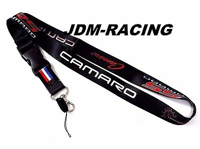 For Chevrolet Chevy Camaro SS RS Black Lanyard Racing Keychain Quick Release New