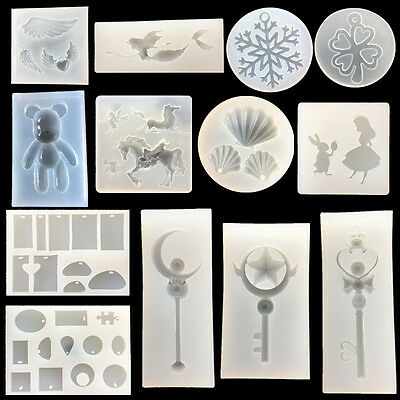 Silicone 1Pcs Clear Tool DIY Jewelry Pendant Making Mold Casting Mold Resin