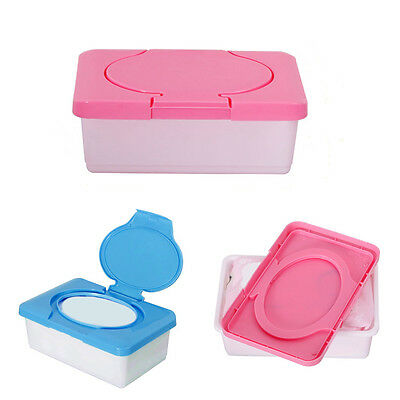 UK Dry Wet Tissue Paper Box Care Baby Wipes Napkin Storage Box Holder Container