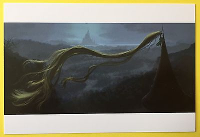 TANGLED Concept Art POSTCARD Disney PRINCESS RAPUNZEL Climbing Spire HAIR 65