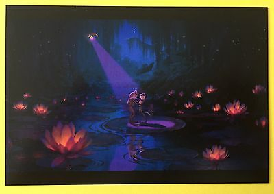 PRINCESS AND THE FROG Concept Art POSTCARD Art DANCING FROGS Lilypad Disney 55