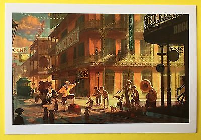 PRINCESS AND THE FROG Concept Art POSTCARD Disney NEW ORLEANS Musicians 54
