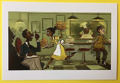 PRINCESS AND THE FROG Concept Art POSTCARD Art CHARLOTTE Waitress NEW 53