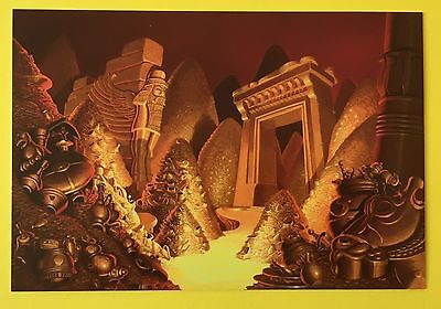 ALADDIN Background Art POSTCARD City DISNEY New CAVE OF WONDERS 027