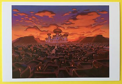 ALADDIN Background Art POSTCARD City DISNEY New ARABIA Agrabah 026