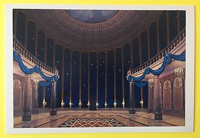 BEAUTY AND THE BEAST Concept Art POSTCARD Ballroom DISNEY New PALACE 024
